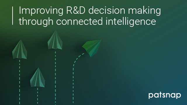 Improving R&D decision making through connected intelligence