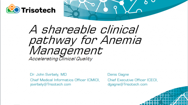 A Shareable Clinical Pathway for Anemia Management