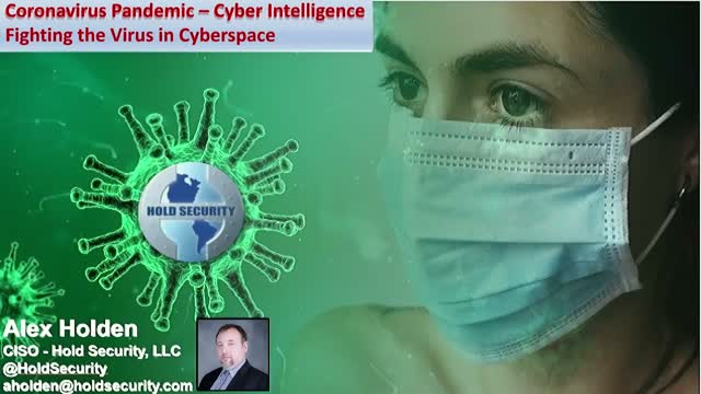 Coronavirus Pandemic – Cyber Intelligence Fighting the Virus in Cyberspace