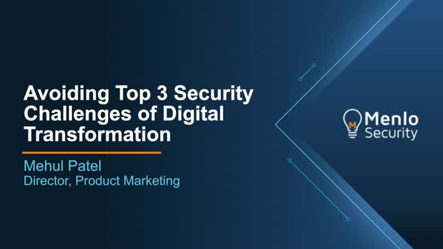 [IDG Webinar] Avoiding the Top 3 Security Challenges of Digital Transformation