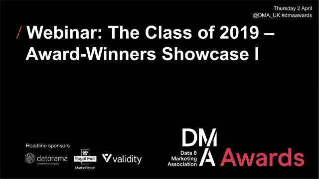 Webinar: The Class of 2019 - Award-Winners Showcase I