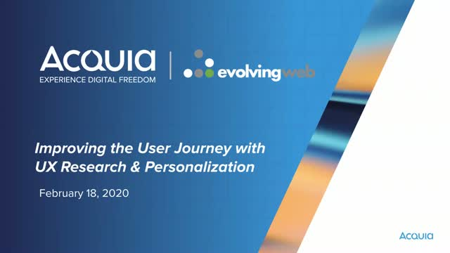 Improving the User Journey with UX Research & Personalisation