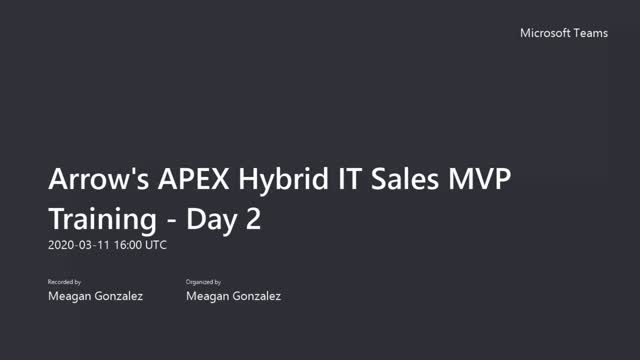 APEX Hybrid IT Sales MVP-Day 2 - InfoSight