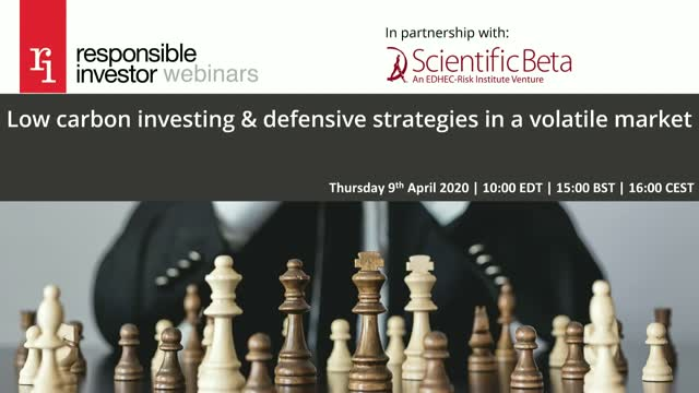 Low carbon investing & defensive strategies in a volatile market
