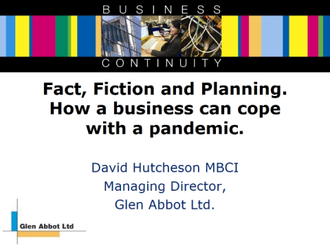 Fact, Fiction and Planning. How a business can cope with a pandemic