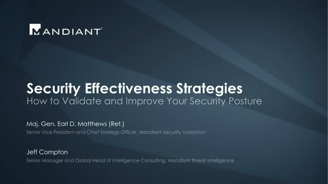 Security Effectiveness Strategies