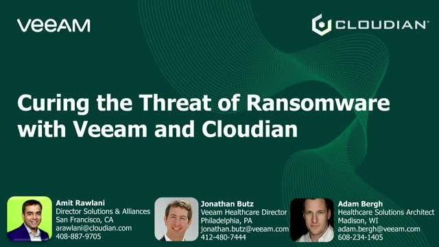 Curing the Threat of Ransomware with Veeam and Cloudian