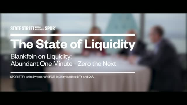 Blankfein on Liquidity: Abundant One Minute – Zero the Next