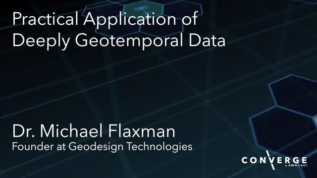 Practical Application of Deeply Geotemporal Data