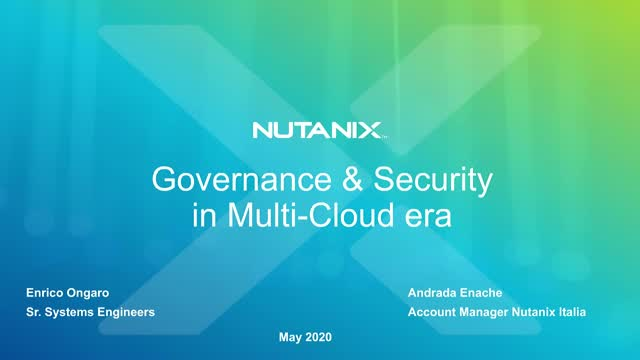 Compliance e Sicurezza per il mondo Multi-Cloud