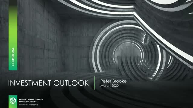 Investment outlook in turbulent times