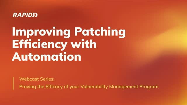 Improving Patching Efficiency with Automation