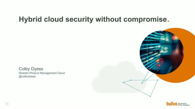 Webinar: hybrid cloud security without compromise