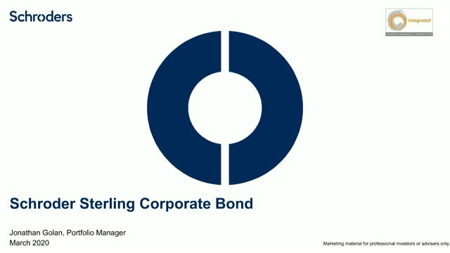 Update: Schroder Sterling Corporate Bond Fund
