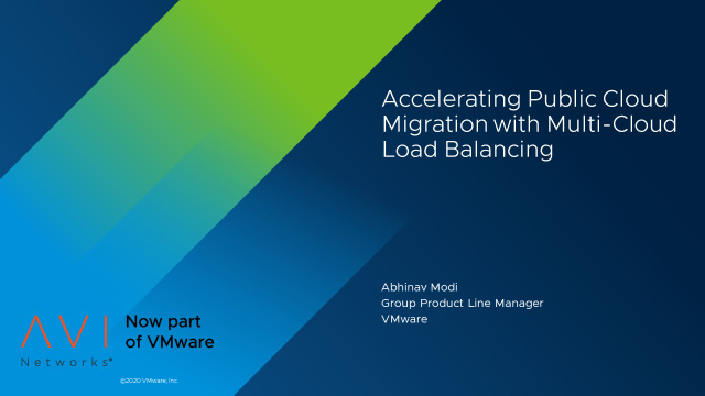 Accelerating Public Cloud Migration with Multi-Cloud Load Balancing