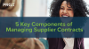 5 Key Components of Managing Supplier Contracts