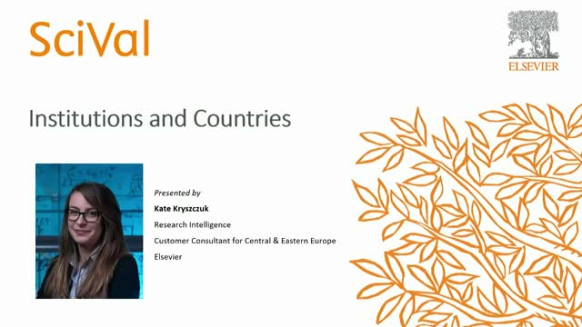 SciVal: Institutions and Countries