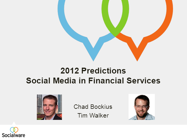 2012 Social Media in Financial Services Predictions