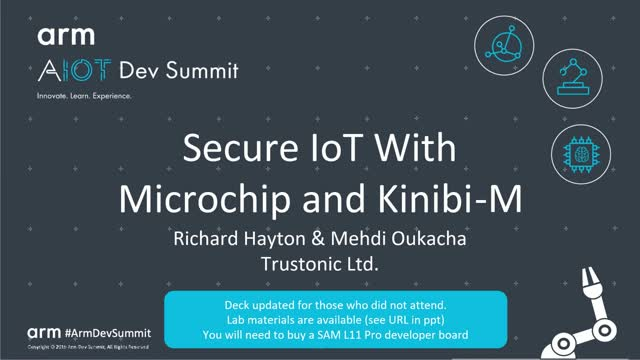 Secure IoT with Microchip and Kinibi-M