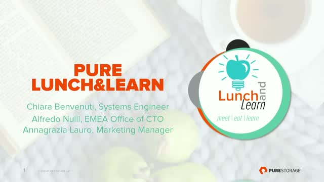 Lunch & Learn: incontra gli esperti - Enterprise Cloud Storage: approfondimento