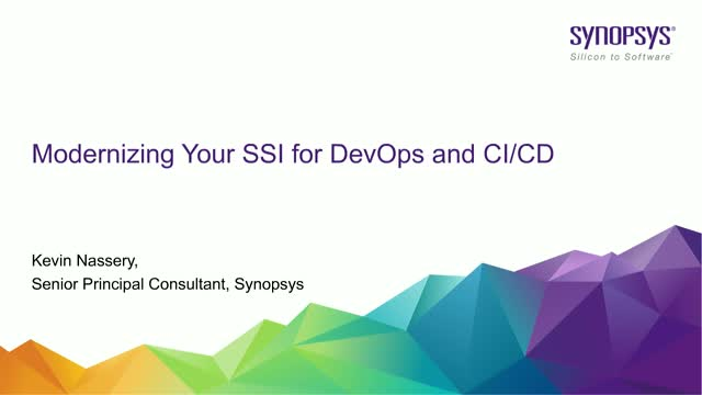 Modernizing Your SSI for DevOps and CI/CD