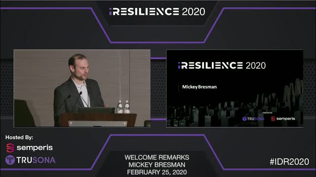Opening Remarks: Identity Resilience Summit 2020