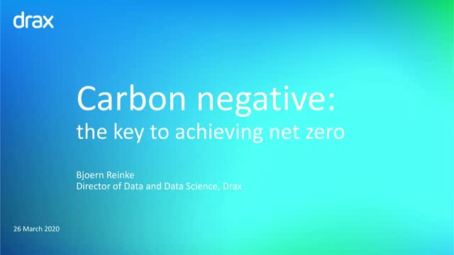 Carbon Negative: The key to achieving Net Zero