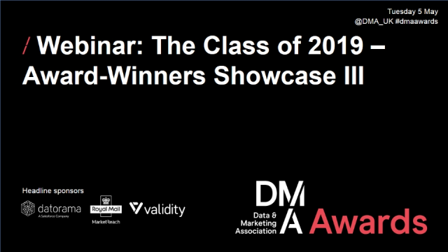 Webinar: The Class of 2019 – Award-Winners Showcase III