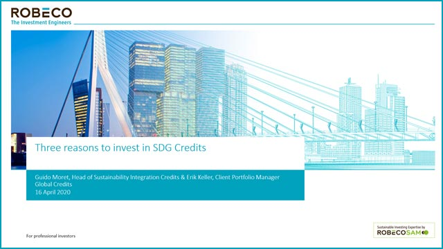 Three reasons to invest in SDG Credits