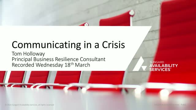Key steps to Communicating in a Crisis - COVID-19 Pandemic
