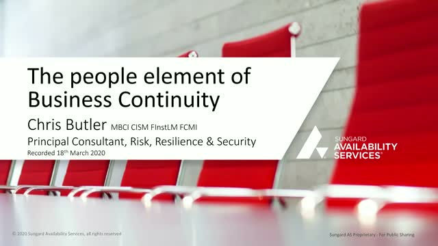 Is your business addressing the human element of business continuity?