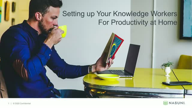 Setting Up Your Knowledge Workers for Productivity At Home
