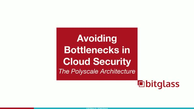 Avoiding Backhauling & Bottlenecks in Cloud Security:The Polyscale Architecture