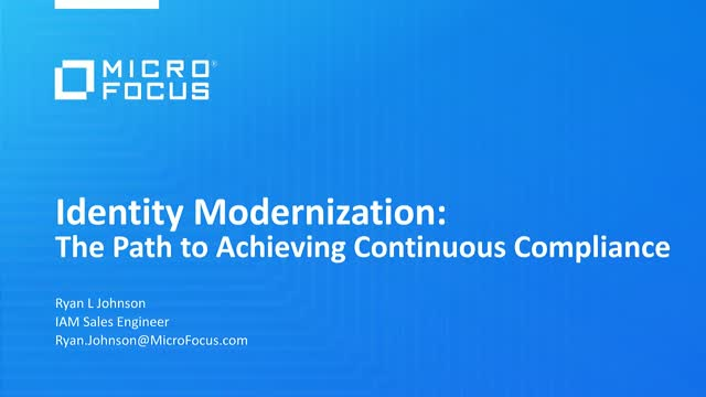 Identity Modernization: The Path to Achieving Continuous Compliance