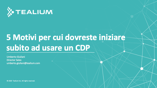 5 Reasons You Should Start Using a CDP Right Now (Italian)