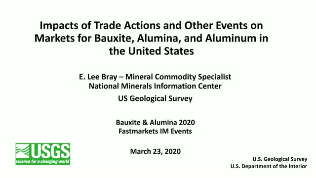 Bauxite & Alumina Webinar Series - Monday 23 March