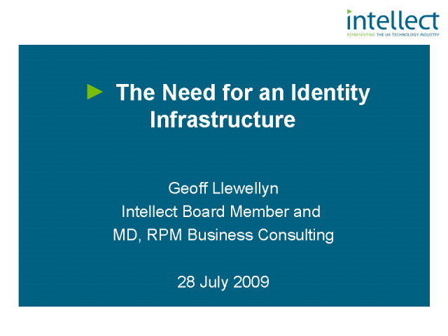 The Need for an Identity Infrastructure