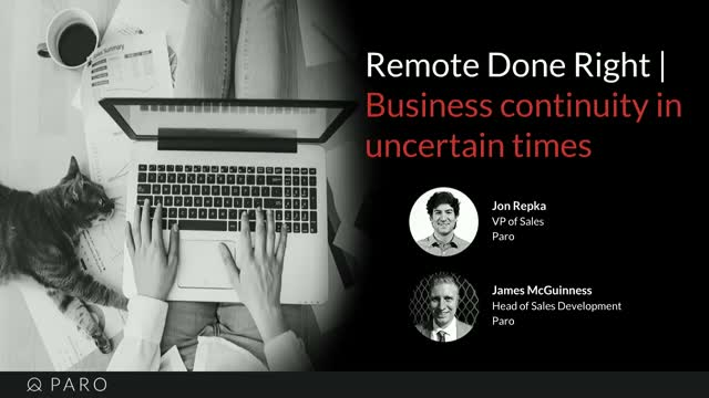 Remote done right | Business continuity in uncertain times