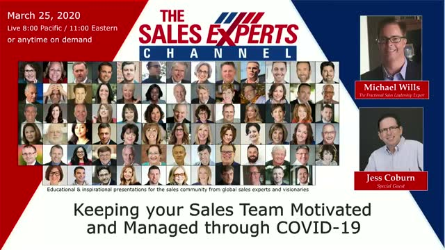 Keeping your Sales Team Motivated and Managed through COVID-19