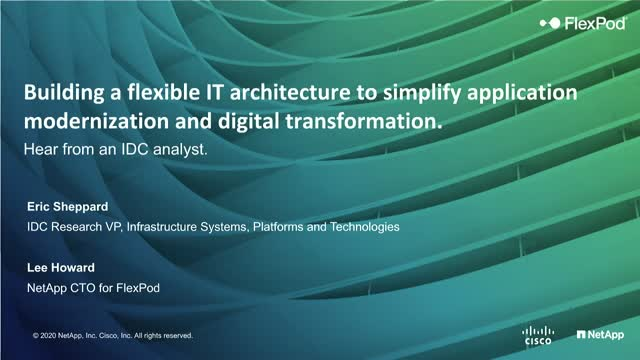 Building a flexible IT architecture to simplify application modernization.