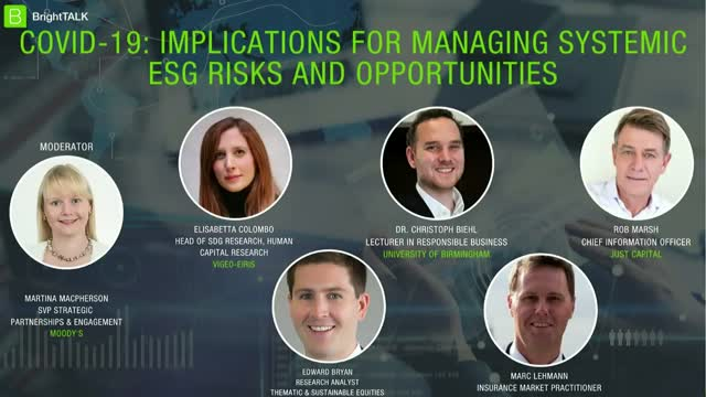 Covid 19 – Implications for Managing Systemic ESG Risks and Opportunities