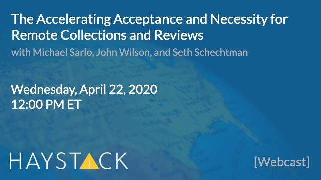 The Accelerating Acceptance and Necessity for Remote Collections and Reviews