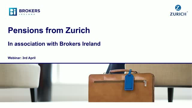 Pensions from Zurich in association with Brokers Ireland
