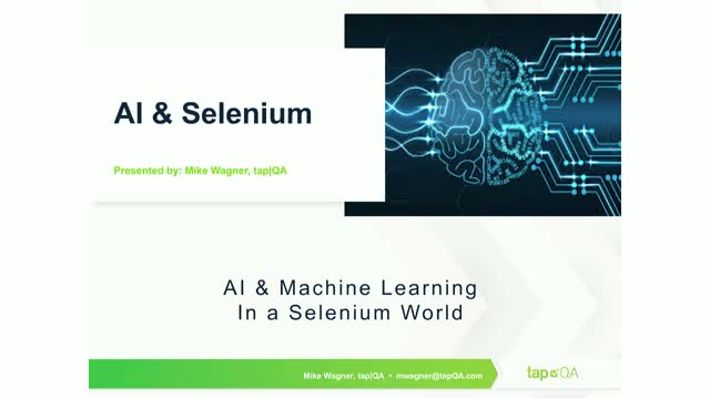 AI and Machine Learning in a Selenium World