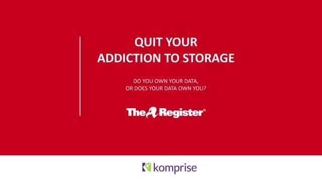 Quit your addiction to storage. Do you own your data, or does your data own you