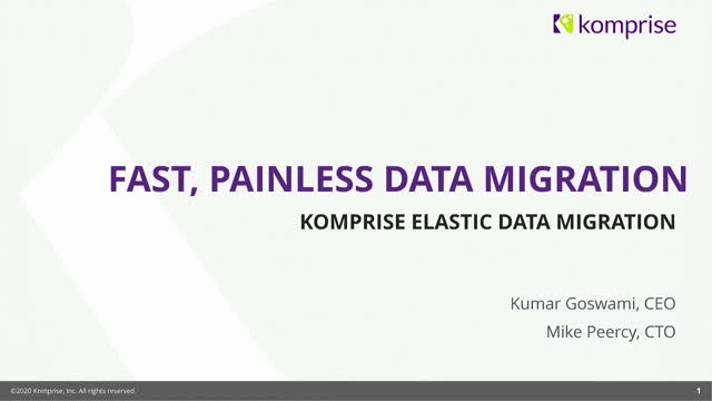 Fast, Painless Data Migrations with Komprise