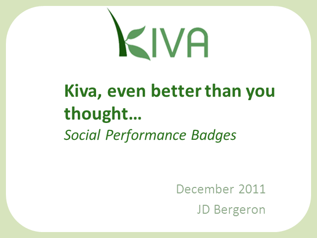 Introducing Social Performance Badges