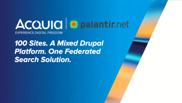 100 Sites. A Mixed Drupal Platform. One Federated Search Solution.