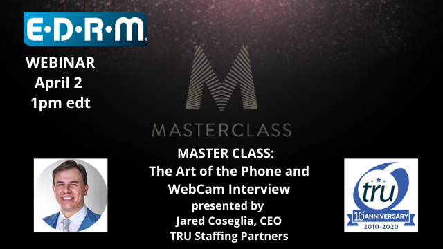 MASTER CLASS: The Art of the Phone and WebCam Interview