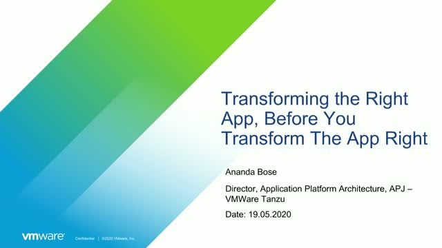 [Tanzu Talks] Transforming the Right App, Before You Transform The App Right